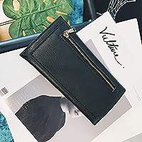 FORTR Home長財布新女性財布ファッションクラッチバッグマルチカードバッグレザー財布(カラー:ブラック)