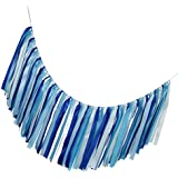 Homyl ガーランド バナー リボンバナー 舞台道具 飾り付け 家庭用 職業用飾り 全8色 - 青