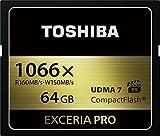 TOSHIBA コンパクトフラッシュカード 64GB EXCERIA PRO 1066倍速 (最大読出速度160MB/s 最大書込速度150MB/s) (国内正規品) CF-EX064V