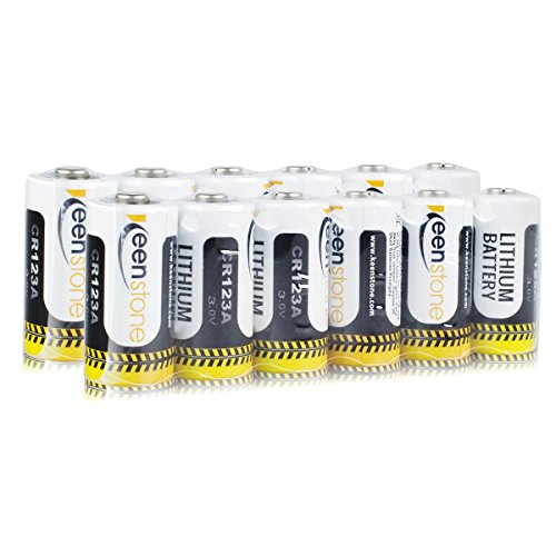 Keenstone CR123A電池 リチウム電池 カメラ用リチウム電池 フラッシュライト用リチウム電池 おもちゃ用リチウム電池 リチウムバッテリー [ULとCE 認証 ](12個)