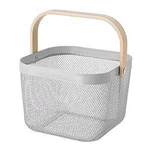 IKEA/イケア RISATORP :バスケット25x26x18 cm グレー (804.437.15)