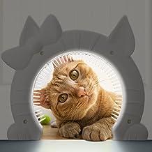 Cat Door The Kitty Pass Interior Cat Door, Hidden Litter Box Large Pet Door US