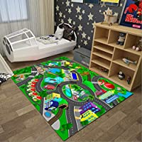ZXW カーペット- 長方形キッズルームカーペットプリンセスルームガールズラグヨガカーペット敷物の寝室ブランケット、洗濯機、12モデル、4サイズ (色 : L l, サイズ さいず : 120cm*180cm)