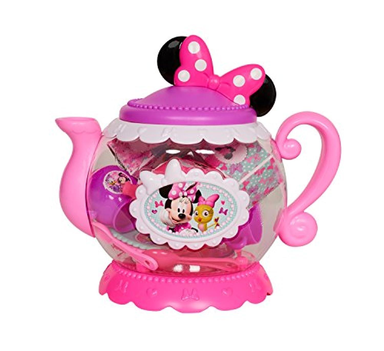 Minnie HappyヘルパーTerrificティーポットセットおもちゃキッチン、マルチカラー
