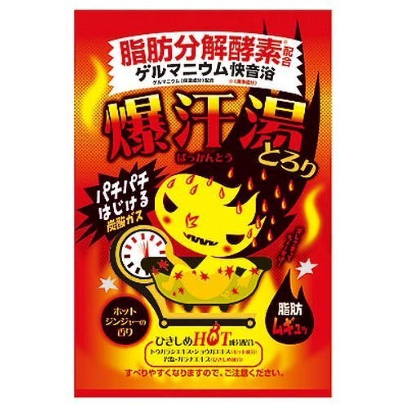 宣伝電化する液化する爆汗湯 ゲルマニウム快音浴 とろり ホットジンジャーの香り(入浴剤)