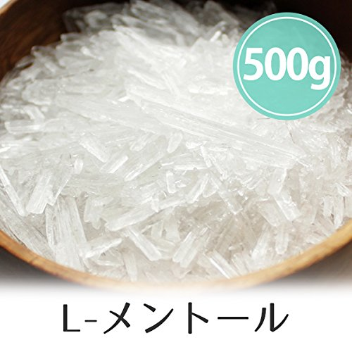L-メントール 500g 天然ハッカ結晶(薄荷脳/クリスタル)