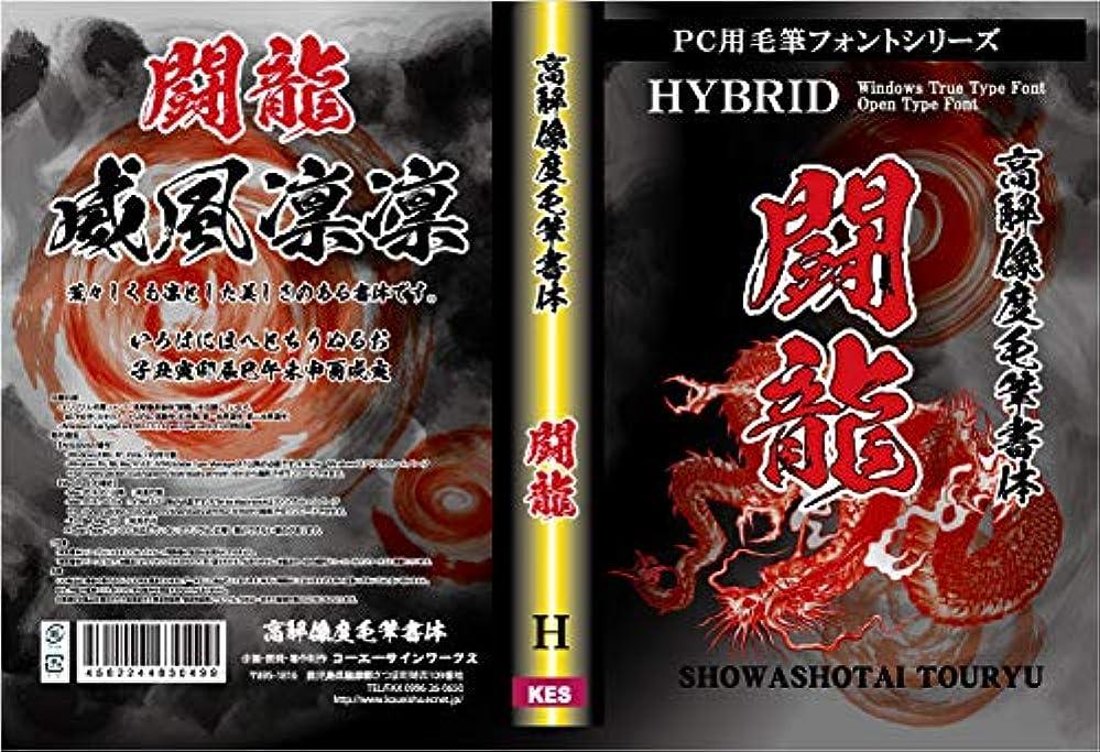 メロドラマティック評判代表してPC用毛筆フォント 高解像度毛筆書体 「闘龍」