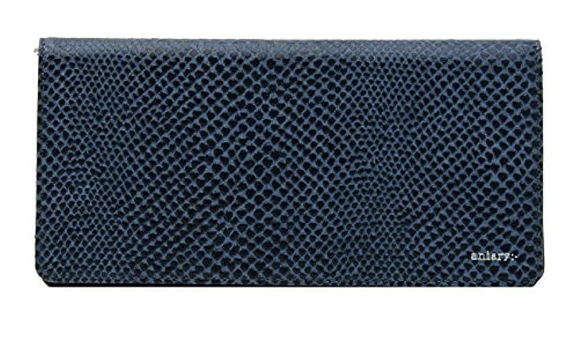 吸収する海軍合計アニアリ 長財布 aniary Scale Leather かぶせ 18-20007
