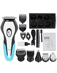 6つの交換可能なカッターヘッドが付いているひげの鼻毛のスタイリングの毛の取り外し機械のための多機能の電気かみそり