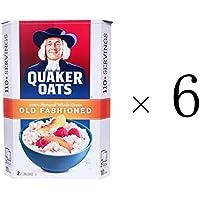 【6箱セット】QUAKER OATS クエーカー オールドファッションオートミール4.52kg 2.26kgX2パック入
