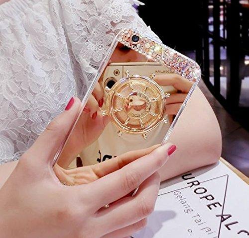 日本未発売 SPRING COME® [車輪ハンドスピナー付き鏡面スマホンケース」フォーカス玩具 iphone 5/SE /IPhone6s iPhone6 PLUS/ iphone7 7s 軽量 ウルトラ スリム 超薄型 プラスチック メッキ 360度保護 全面的保護機能  Hand Spinner Fidget Spinner ソフト バック ケース アイホン5 アイホンSE / アイフォン6s / 6アイフォン6 / 6s / 7/7プラス カバー スマホケース スマホカバー 超薄 軽量 プラスチック製 アイホン6s プラス カバー アイフォーン (アイホン6/6Sプラス, ゴールド) [並行輸入品]