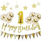 1歳 誕生日 飾り付け 21点 セットゴールド バースデー バルーン