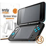 2DSXL Screen Protectors, 6PCS - Orzly 3-in-1 Dual Screen Protector Pack (3 Top + 3 Bottom) for New 2DS XL (2017 Version) - Ultra Clear Transparent PET Film Screen Protectors for New Nintendo 2DS XL
