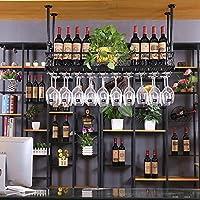 ワインラックワイングラスホルダー鍛鉄ホームバーレッドホテルゴブレットラックホワイトブラックマルチサイズワインラック (色 : A, サイズ さいず : 120*25cm)