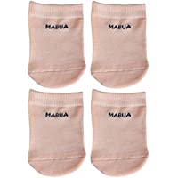 Mabua Anti-slip Breathable Half Toe No Show Socks Original Designer Nude 4 Pairs