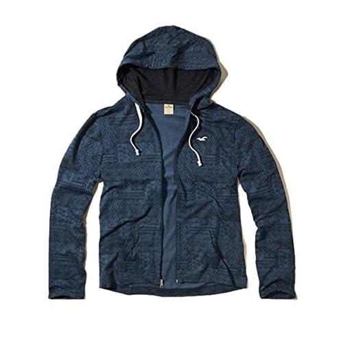 (ホリスター) Hollister Co. ホリスター メンズ Tシャツ パーカー フーディー アウター [ネイビー/Pattern] 並行輸入品 Lサイズ
