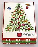 Andy Warhol Christmas Tree Boxed Holiday Half Notecards 画像