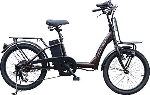 Airbike 電動アシスト自転車 20インチ トルクセンサー式 型式認定モデル 459 (ブラウン)
