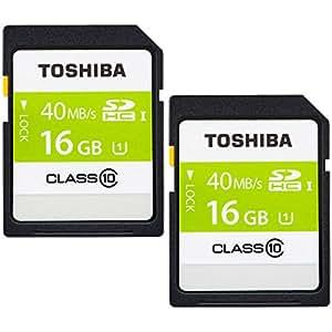 2個セット 東芝 Toshiba SDHC カード 16GB UHS-I クラス10 [並行輸入品]