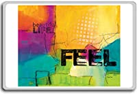 Beautiful Life, Feel - Motivational Quotes Fridge Magnet - ?????????