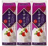 Y091332-3P 牛乳パックシリーズ 豊田乳業 TOYOTA レアチーズ 7〜8人分 1kg×3個 要冷蔵