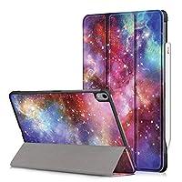 """新しい iPad Pro 11 インチ 2018 ケース Apple Pencilの磁気アタッチメント付き[三つ折りスタンド設計] 超軽量 上質レザー素材 耐衝撃 耐久 [自動ウェイク/スリープ] Apple Pro 11"""" 2018リリース(銀河)"""