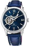 [オリエント]ORIENT 腕時計 ORIENTSTAR オリエントスター セミスケルトン 機械式 自動巻き (手巻き付き)  ミッドナイトブルー WZ0231DA メンズ