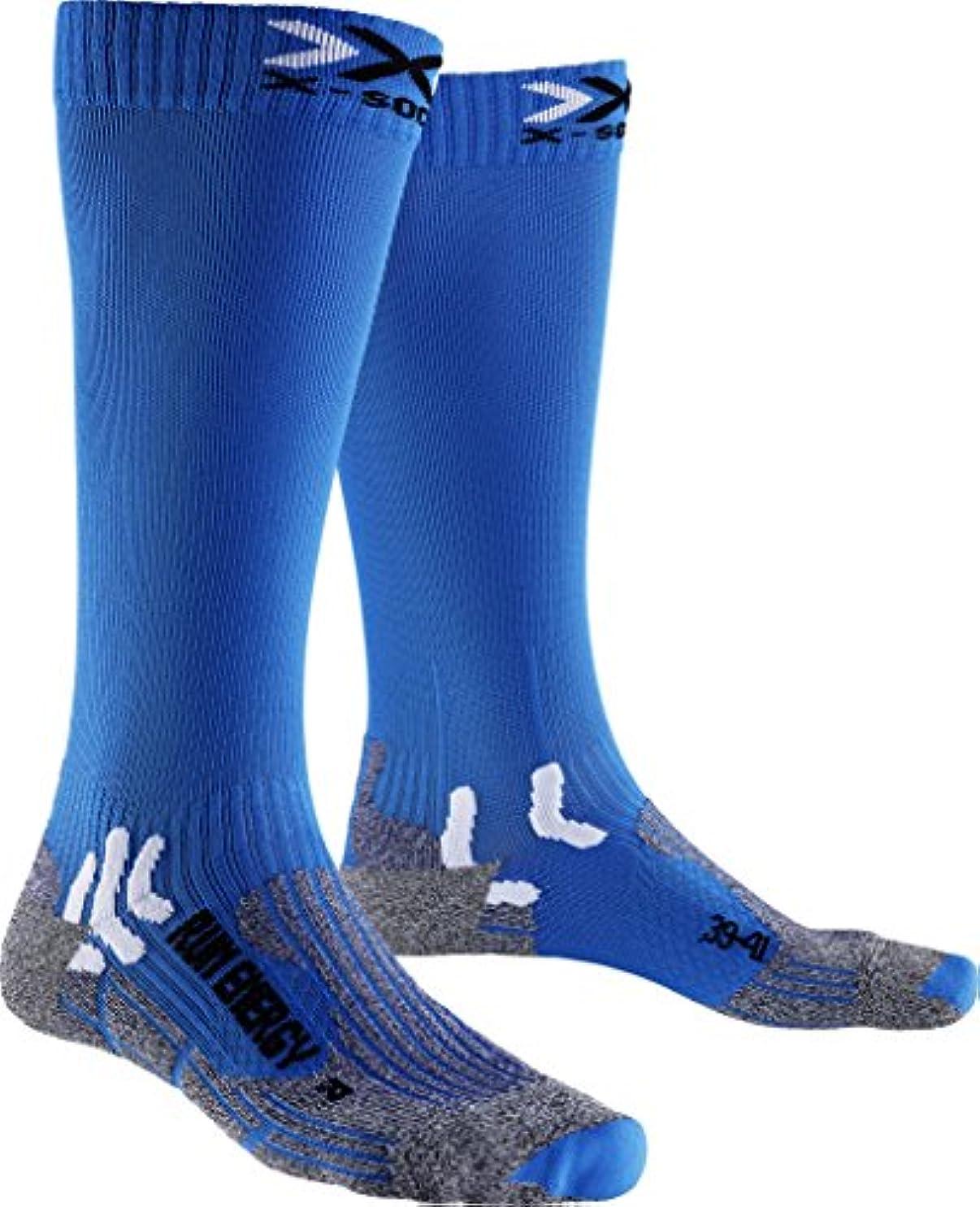 笑辞任する富豪メンズとレディース1ペアx-socks実行Energiser圧縮ソックス