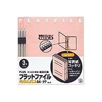 プラス フラットファイル ノンステッチ  3冊パック 023NP A4-S ピンク 78-378
