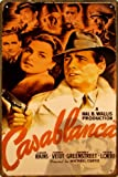 【 アメリカンブリキ看板 】 『 カサブランカ 』 Casablanca ハンフリー・ボガート Humphrey Bogart サイズ:約20センチ×約30センチ。
