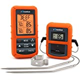 iTronics TP20 Wireless Remote Digital Cooking Food Meat Thermometer with Dual Probe for Smoker Grill BBQ Thermometer