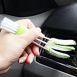 ( DDOU ) Multi-function Clean Tool Dirt Duster Brush Dual Head for Car Air-Condition Vent Blind ( 多機能クリーンツールダストダスターブラシデュアルヘッド、カーエアコン用ブラインドビュー拡大 )