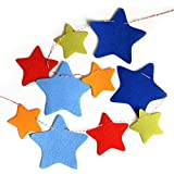 HOPIC 誕生日 飾り付け フェルト バナー バースデー 飾り ガーランド (STAR)