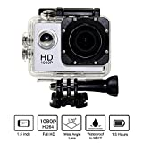 CasStar 1080P H.264 Sports DV Camera 1.5Inch LCD 12MP Display 170 Degree Wide Angle+ Full HD Lens Micro Hdmi Support 32G Micro SD Card with 900mAh Rechargeable Battery Underwater 30m (Silver) [並行輸入品]