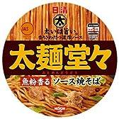 日清 太麺堂々 魚粉香るソース焼きそば 117g×12個