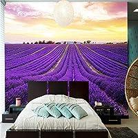 3 d壁紙壁画3 d美しい紫色のラベンダーの花畑写真寝具部屋テレビの背景壁紙家の装飾-260x420cm