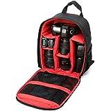 Waterproof DSLR SLR Camera Soft Case Bag Backpack Rucksack for Canon Nikon Sony (Red)