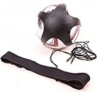 Qees FootballキックトレーニングバッグSoccorトレーニングAssistance Practice Aidコントロールスキル調節可能な伸縮性ウエストベルトソロ子供大人zqxl01