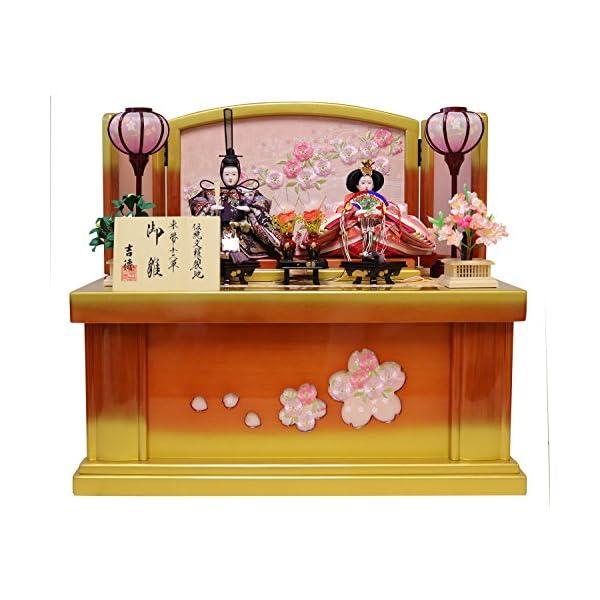 吉徳 雛人形 親王収納飾り 間口58×奥行38×...の商品画像