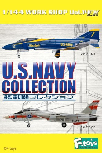 エフトイズ 1/144戦闘機 艦載機コレクション U.S.NAVY 01 F-14A トムキャット a.第1戦闘飛行隊 空母エンタープライズ搭載