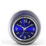 車用 車用品 時計 夜光 置き時計 ミニ時計 ブルー 小型 クオーツ時計 アナログ表示 スチール ABS ガラス