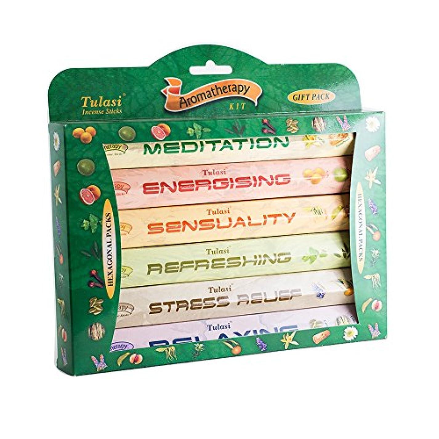 やろうおもちゃメロンTulasiヨガシリーズプレミアム香りつきIncense Variety Gift Hexagonal Large Pack 6つIncense Sticks