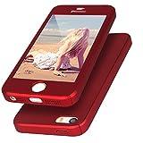 iPhone SE ケース,Imikoko iPhone5s ケース iPhone5ケース 全面保護 ガラスフィルム 360度フルカバー 衝撃