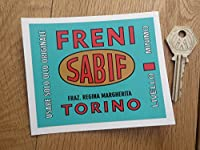 Sabif Freni Brakes Sticker ステッカー シール デカール 103mm x 84m [並行輸入品]