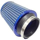 エアクリーナー フィルター ステンレス メッシュ タイプ キノコ 型 青 汎用