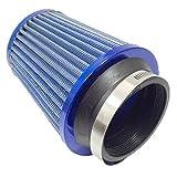 エアクリーナー フィルター ステンレス メッシュ タイプ キノコ 型 青 汎用 (¥ 1,880)