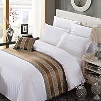 OSVINO ベッドスロー 上品な雰囲気へ ベッドライナー ホテル リビングルーム 自宅 ベッドメーキング ヨーロッパスタイル 高級感 丈夫 長持ち シングル/セミダブル/ダブル ブラウン3 ダブル240x50cm