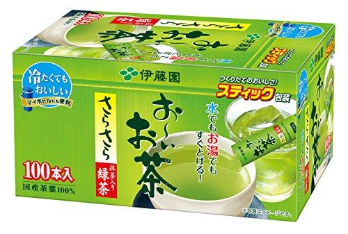 おーいお茶 抹茶入りさらさら緑茶 スティック 100本