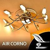 AIR CORNO エアコルノ 017 LED シーリングライト スポット シャンデリアライト 8灯 調光調色 リモコン付き 4-12畳 バード 小鳥
