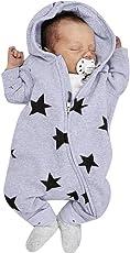 パジャマ アンサンブル Timsa かわいい 星星柄 ロンパース ベビー服 女の子 赤ちゃん服 幼児 子供服 男の子 フード付き 3D 漫画 ベビー着ぐるみ 長袖 キッズ服 ロンパース カバーオール 仮装衣装 ジッパー付き パジャマ 満月/出産祝い/プレゼント